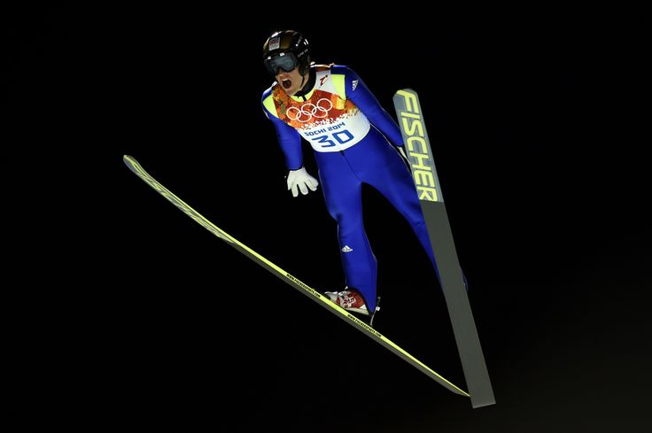 Jan Matura of Czech Republic jumps during the Men's Large Hill Individual 1st Round (c) Getty Images
