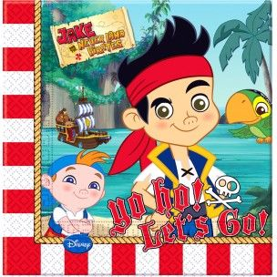 20 serviettes Jake le Pirate 2 plis 33x33