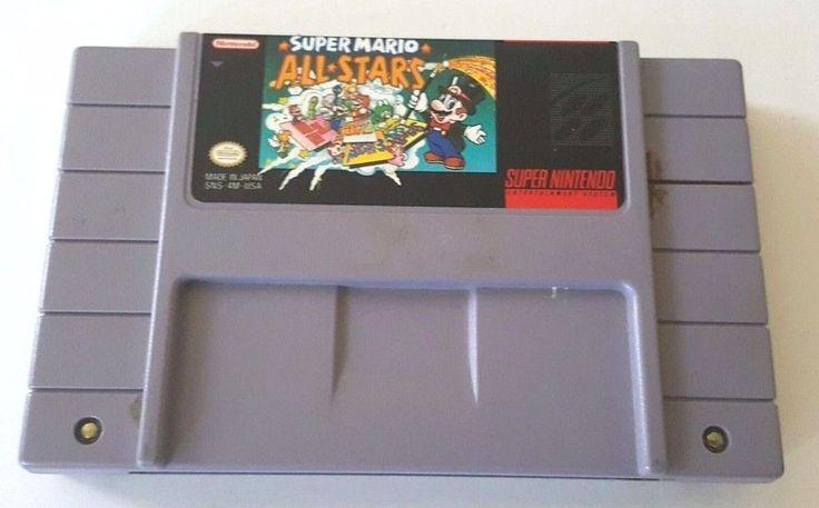 SNES Super Nintendo Game SUPER MARIO BROS ALL-STARS NES Games 1-2-3