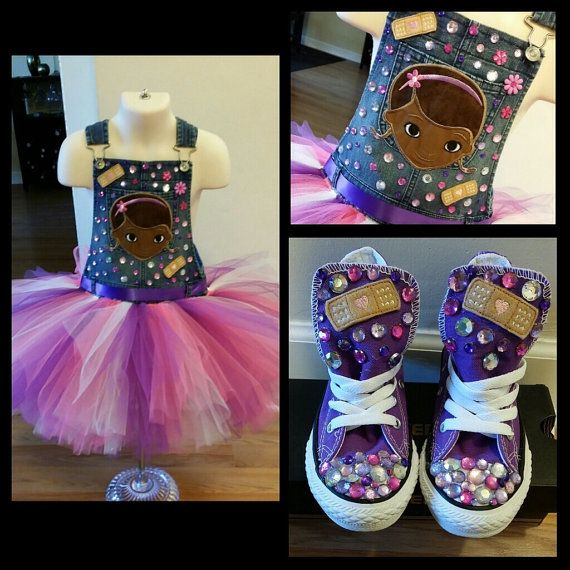 Doc Mcstuffins Tutu Overalls With Converse by TuTuCutee on Etsy