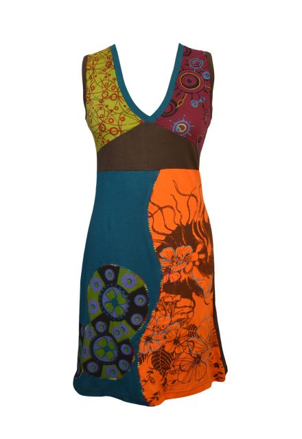 WOMEN SLEEVELESS DRESS WITH EMBROIDERY WORK - YINYAN ( 1005 )