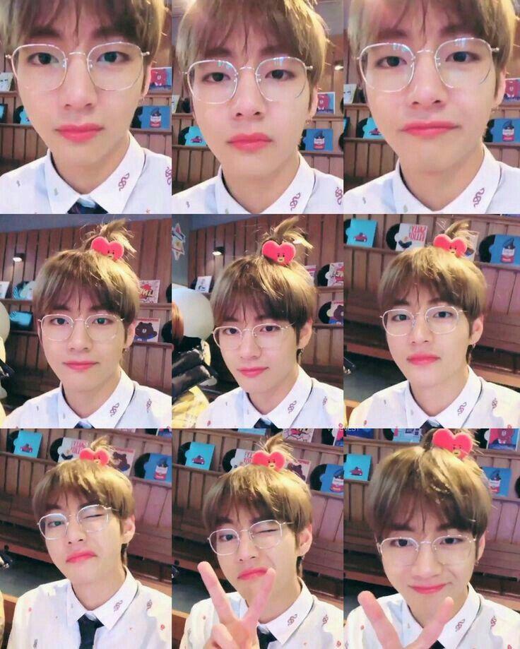 뷔 Bts Kimtaehyung Taehyung V Handsome Cute Smile Hd