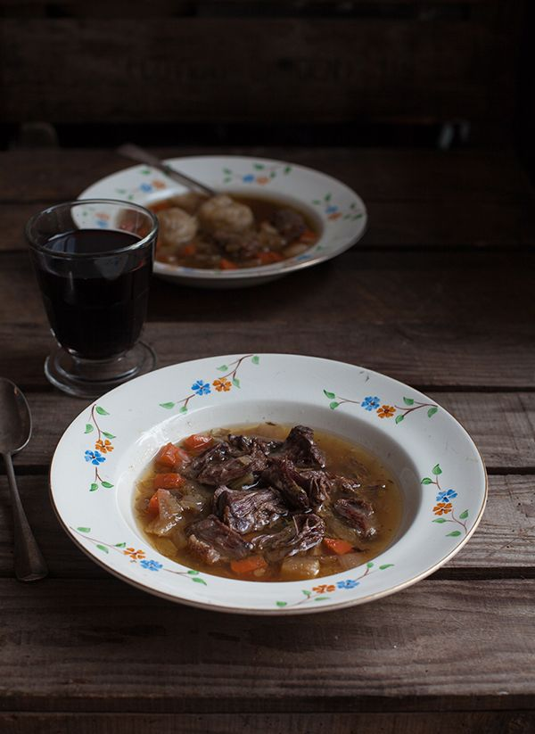 Miss Foodwise | Celebrating British food and culture: Alexis Soyer's Oxtail Soup with simple suet dumpli...