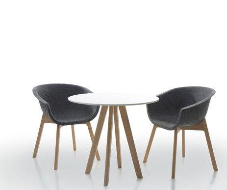Designerski stolik Round Table i komfortowe krzesła Chairman.