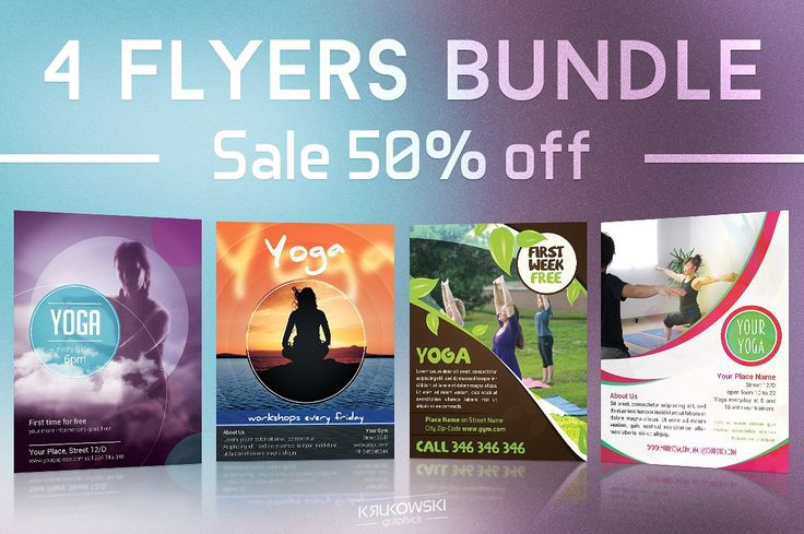 Yoga Flyer Template Psd Word And Indesign Format  Yoga Flyer