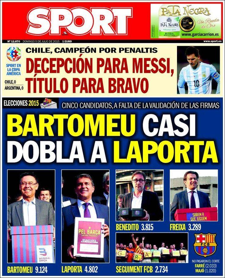 Portada Sport 5/07/2015