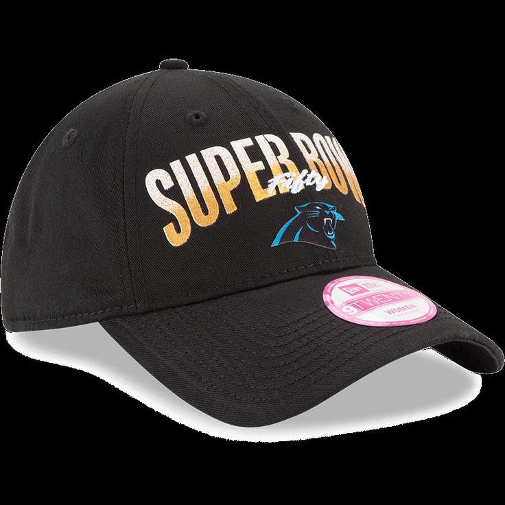Women's 2016 NFL New Era Carolina Panthers Super Bowl 50 9TWENTY Adjustable Hat #NewEra #CarolinaPanthers