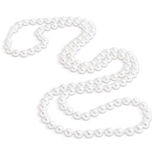 """Rhode Island Novelty Pearl Necklaces (12-Pack) 48"""" 7MM White Pearl"""