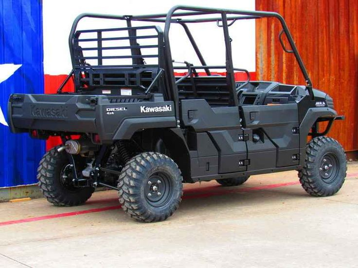 New 2017 Kawasaki Mule Pro-Dxt Diesel ATVs For Sale in Texas. 2017 Kawasaki Mule Pro-Dxt Diesel, 2017 Kawasaki Mule Pro-Dxt Diesel THE KAWASAKI DIFFERENCE OUR POWERFUL, MOST CAPABLE, FULL-SIZE SIX-PASSENGER DIESEL MULE SIDE X SIDE EVER. THE 2016 MULE PRO-DXT NOT ONLY OFFERS UNMATCHED CARGO AND PASSENGER VERSATILITY, BUT CAN ALSO TOW UP TO ONE TON. Features may include: Powerful 993cc inline 3-cylinder diesel engine Exclusive Trans Cab system easily converts seating capacity (3- to…