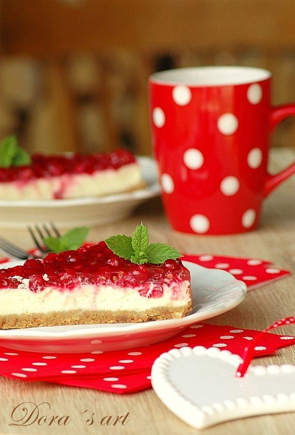 Dora´s art: Ríbezľový cheesecake