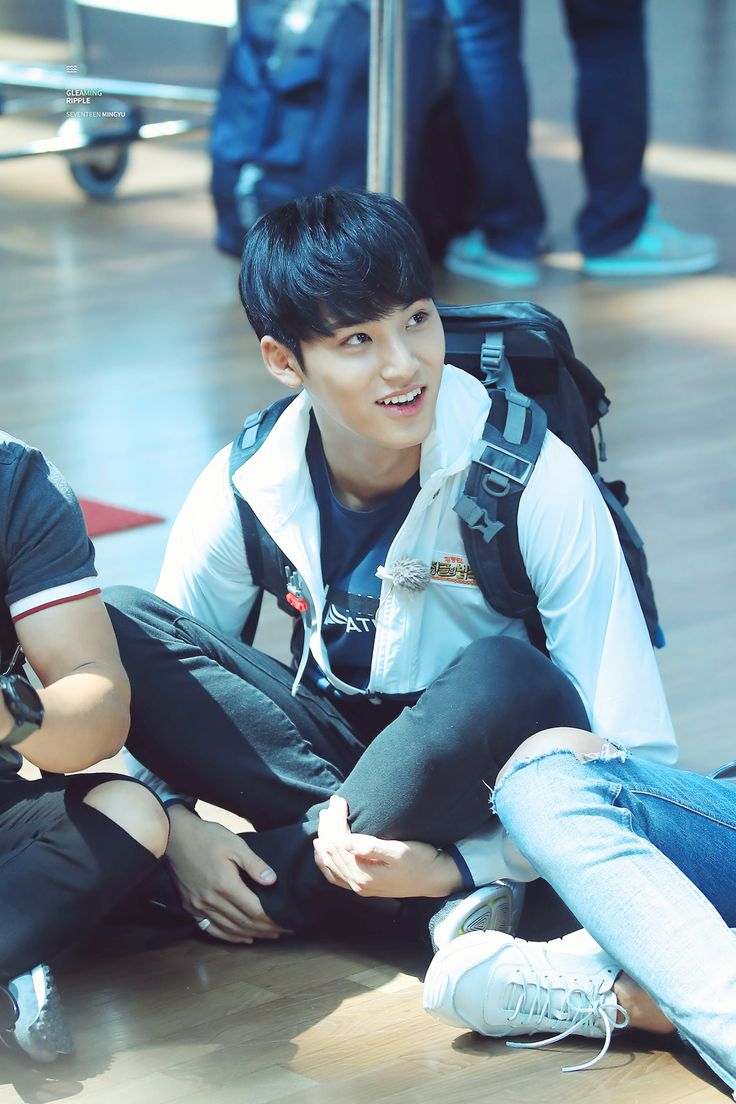 "Mingyu - I hate pics with stuff like backpacks and skateboards.. makes me feel like even more of a pervy noona..  ""He's a grown man.. he's a grown man.."""