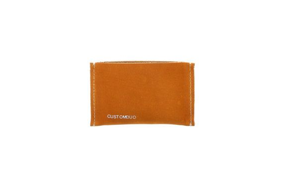 Personalized Leather Card Holder Studded Card Holder by CUSTOMDUO