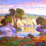 Kansas Artist, the esteemed Kansas artist, Birger Sandzen lived three lives in one as a painter, educator and crusader for art. He was born in Blidsberg, Sweden, on February 5, 1871 and grew up in a home where music, art and literature were loved and appreciated. In 1881 he began attending a boy's school in Skara, Sweden. He decided to become a professional painter and moved to Stockholm and later to Lindsborg, Kansas. He founded Bethany College there.