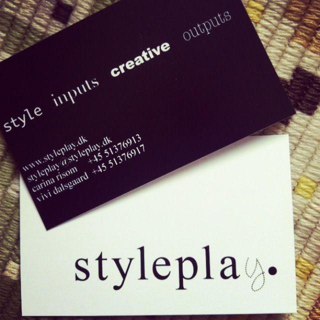 styleplay.dk. Our business card/ visitkort - design Lotte Korntved