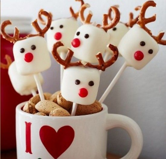 Reindeer-Marshmallow-Pops recipe #Christmas #recipe