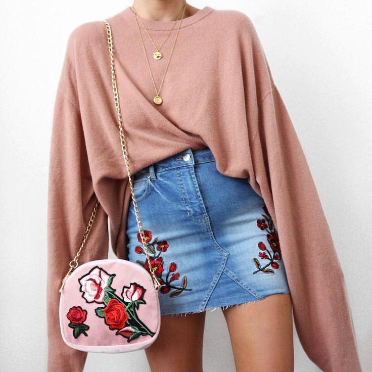 """14.1 k likerklikk, 100 kommentarer – Alicia Roddy (@lissyroddyy) på Instagram: """"Floral embroidery deets skirt and bag both @misspap use code BANKHOL for 20% off"""""""