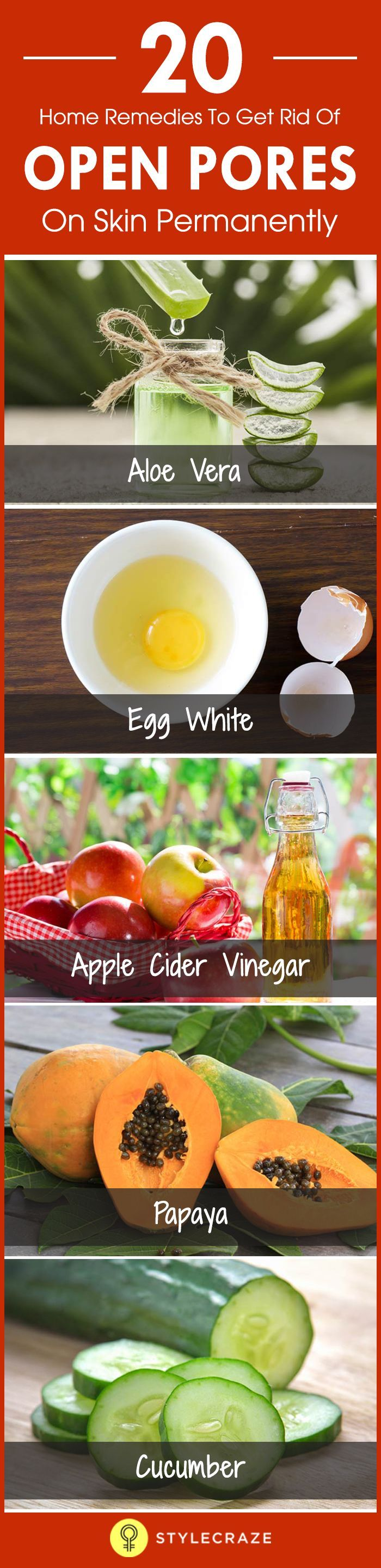 20 Home Remedies, um offene Poren auf der Haut los…
