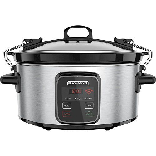 BLACK DECKER Best Programmable Crock Pot 6-Quart Slow Cooker with WiFi-Enabled