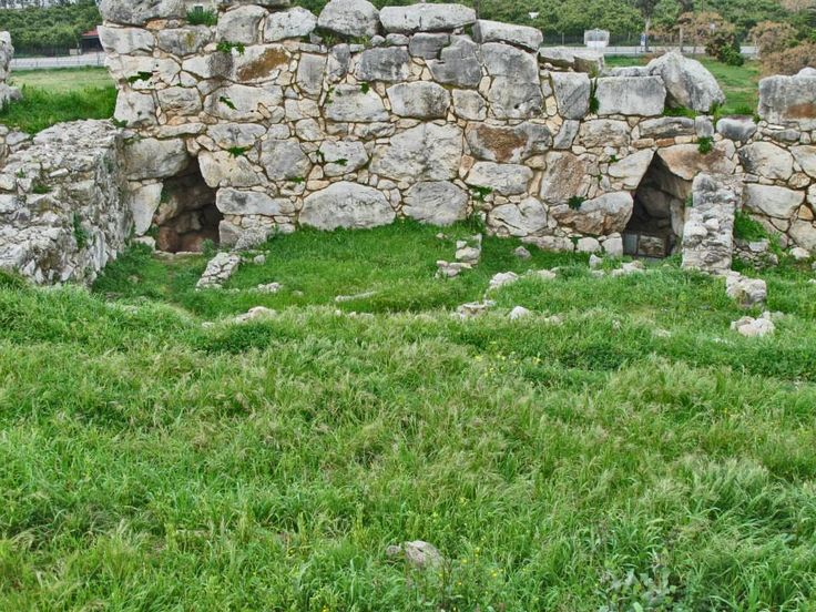 Galleries or tunnels within the walls of Ancient Tiryns Mycenaean Citadel (16th c. BC)