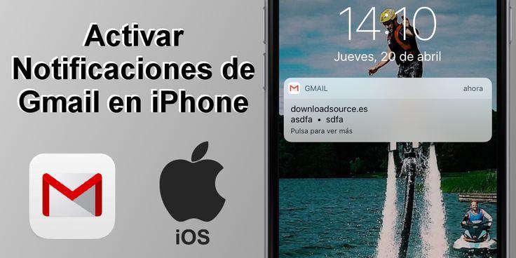 Activar las notificaciones de Gmail en tu iPhone o iPad ✅ para saber cuándo recibes un correo electrónico nuevo. #Gmail #iOS #iPhone #Apple #Correo #Mail downloadsource.es