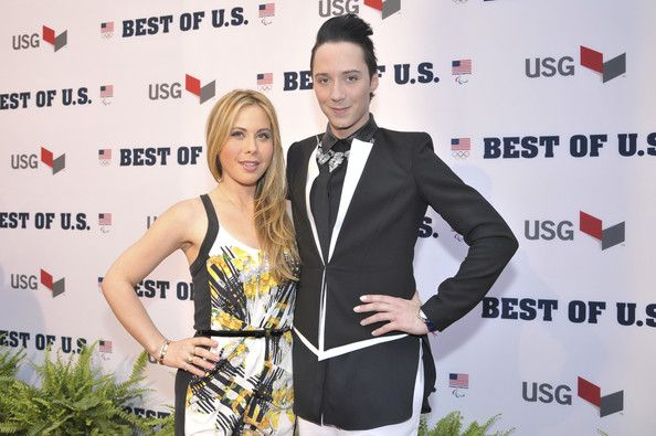 Johnny Weir Photos - Tara Lipinski and Johnny Weir walk the red carpet during the U.S. Olympic Committee's Best of U.S. Awards at Warner Theatre on April 2, 2014 in Washington, DC. - US Olympic Committee Best of US Awards