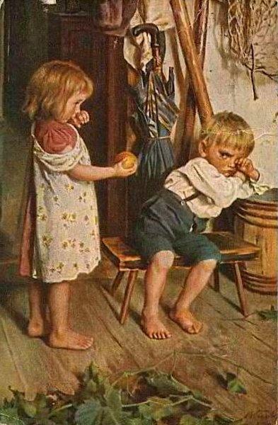 Be Good.  Marie (Mizzi) Wunsch (1862 – 1898, German)