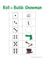 Everything winter - snow, ice, weather unit study  #homeschool #preschool #printables #kindergarten ~ Great idea for a game!: Winter Snow, Printable Kindergarten, Building Snowman, United Study, Homeschool Preschool, Dice Games, Preschool Printable, Study Homeschool, Weather United