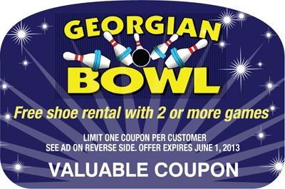 Free Shore rental with 2 or more games. Georgian Bowl