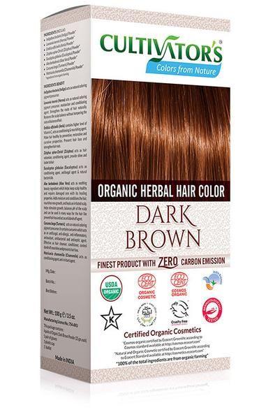Cultivator's - Ekologisk Hårfärg Dark Brown, 100 g i gruppen HÅR / Hårfärg / Hårfärg Pulver hos Softskin Scandinavia AB (CUL010)