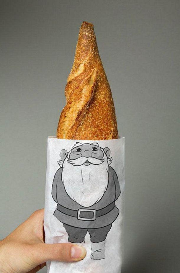 5 creatieve verpakkingen die zichzelf verkopen. Kabouter brood verpakking door Lo Siento Studio.