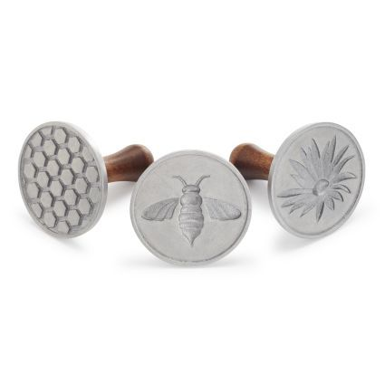 Nordic Ware Bee Cookie Stamps, Set of 3, available at #surlatable