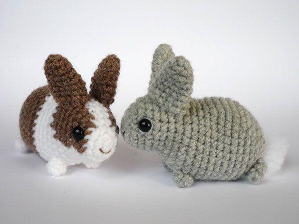 Cute Easter bunnies with standard ears. $15.00, via Etsy.