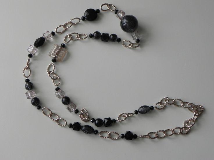 Collana+black+-+light+rose+di+SpinzMade+su+DaWanda.com
