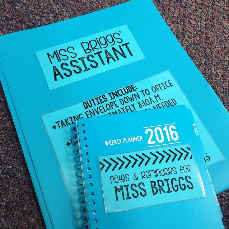 """I love this idea, although this is definitely suited for older elementary students. """"Qualifications for being my assistant: Being responsible, staying organized, and not laughing when you hear the word 'duties.'"""""""