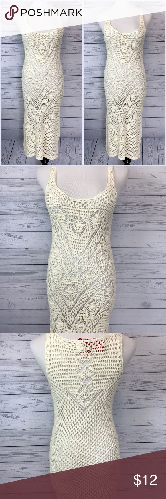 "H&M Knitted See-Thru Dress NWT. Still in very good condition. 💯 Cotton. Length-43"". Pit to pit-15"". Stretchy. Bought in H&M Malaysia. H&M Dresses Midi"