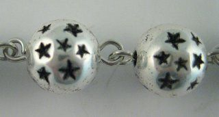 Size: 9mm, color: Antique Silver. Use No. 15 size eye pins. Priced per 60 beads.