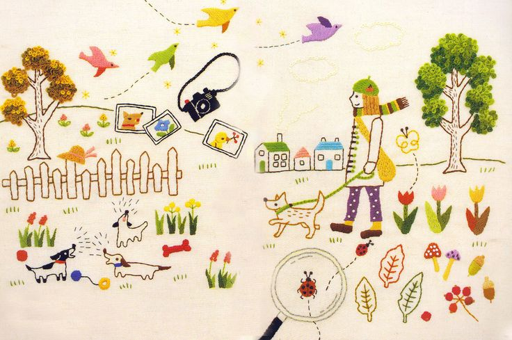 Story hand embroidery stitch sewing applique patchwork quilt PDF E Patterns. $5,00, via Etsy.