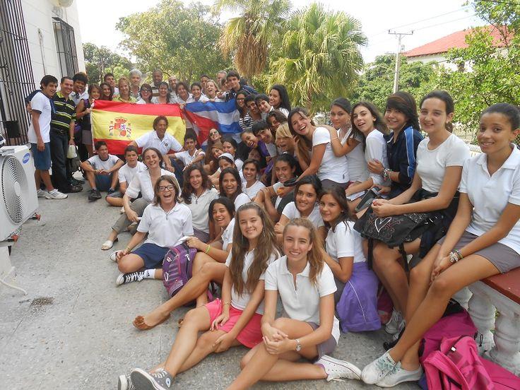 CONFERENCIA SOBRE PONCE DE LEON EN UN COLEGIO DE LA HABANA CUBA DURANTE SU EXPEDICION ALVARO DIO CONFERENCIAS EN PUERTO RICO MIAMI BAHAMAS CUBA