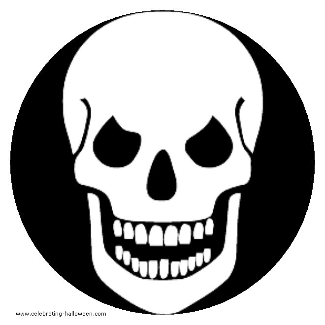 image detail for halloween skull stencil free pumpkin carving stencil pattern - Halloween Pumpkin Outline