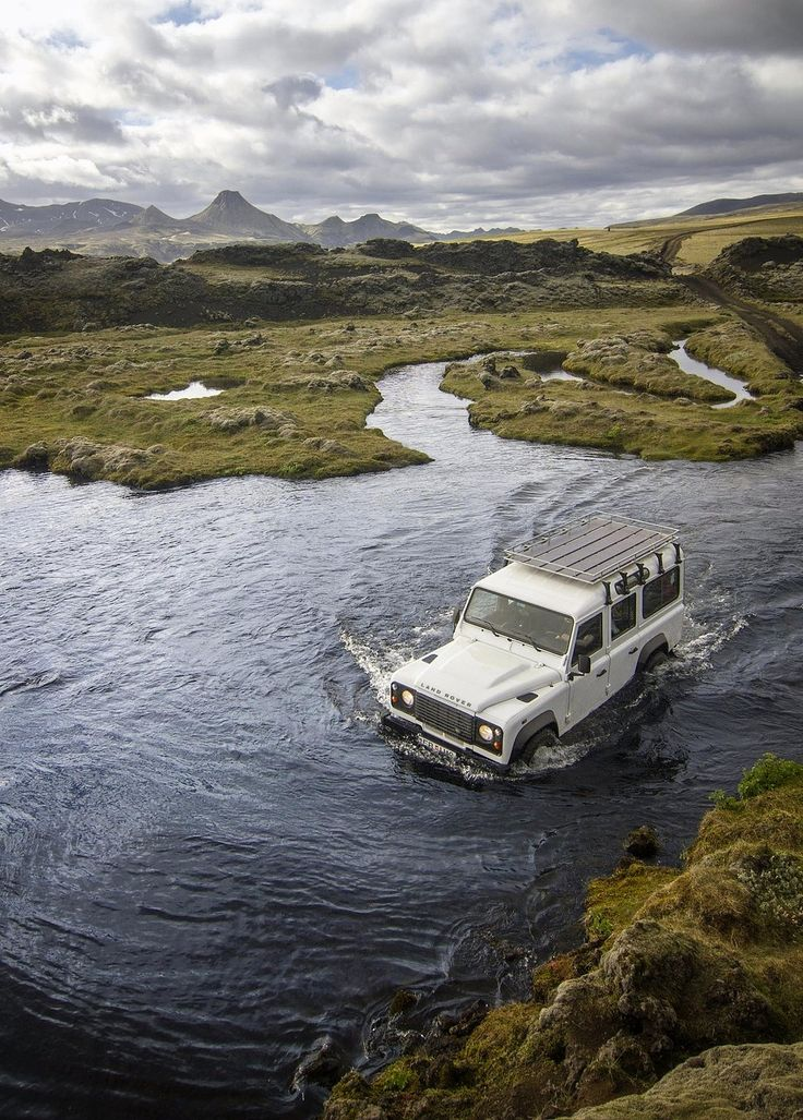 Lakagigar Iceland - river crossing.