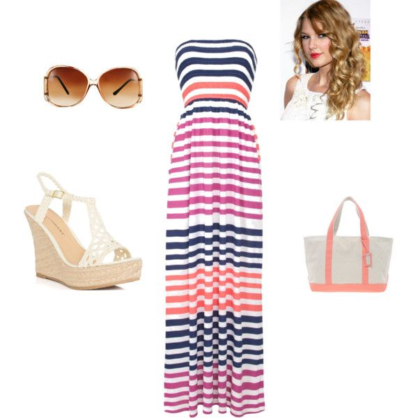 Maxi dress <3 by own-style on Polyvore featuring moda, John Lewis, JustFabulous, French Connection and Jeepers Peepers