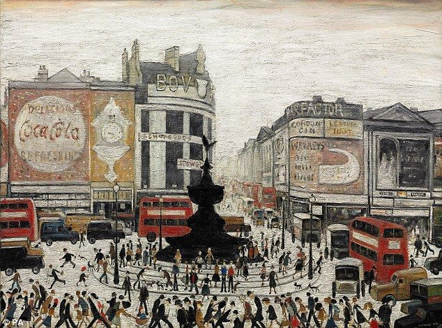 piccadilly circus | l s lowry