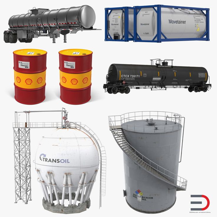 Oil Storage Tanks Collection 3D model