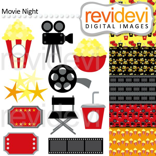 clipart of movie night - photo #28