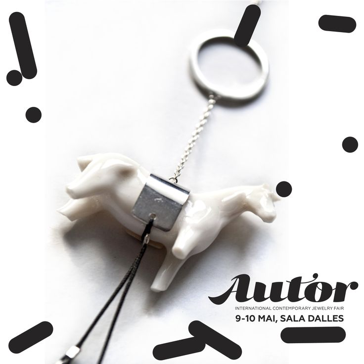 Horse single earring #snob #snobdot #porcelaine #silver #horse #contemporaryjewelry #jewelry #accessories