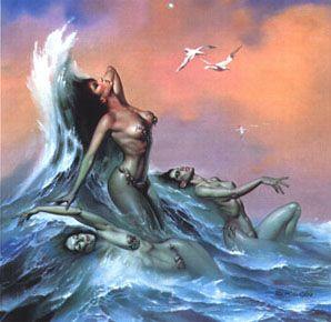 Водные нимфы Boris Vallejo