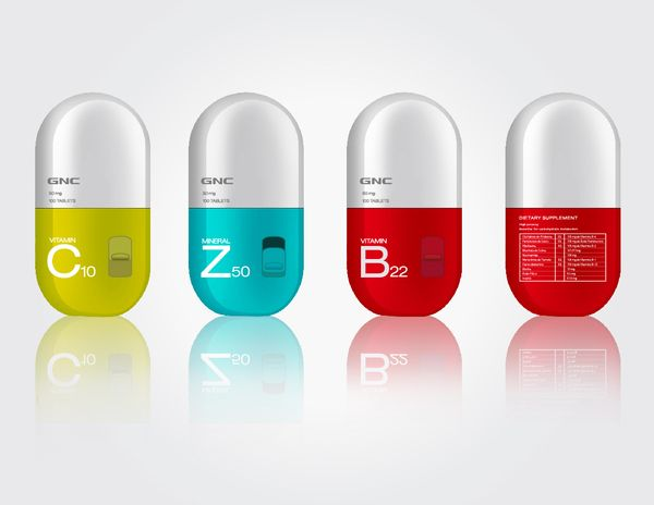 vitamins gnc by monica villarreal via behance push your. Black Bedroom Furniture Sets. Home Design Ideas