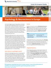 Psychology & Neuroscience in Europe