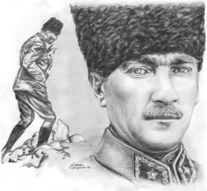 Mustafa Kemal ATATÜRK Kara Kalem Çalışmaları