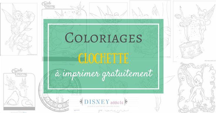 Voici quelques coloriages Clochette à imprimer gratuitement pour occuper les enfants pendant les vacances !